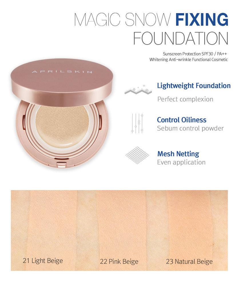 Reviews April Skin Magic Snow Fixing Foundation Hg Foundie For Aprilskin Oily Pinkislovebynix