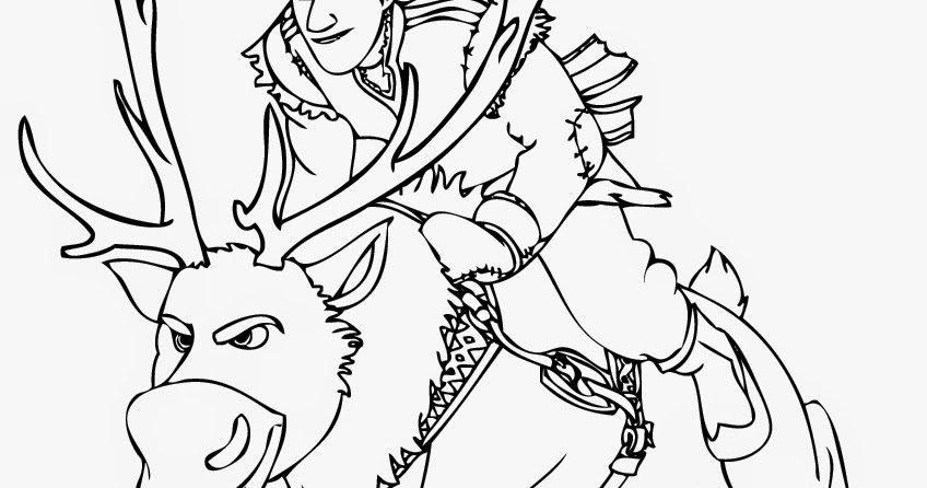 sven coloring pages for kids - photo#11