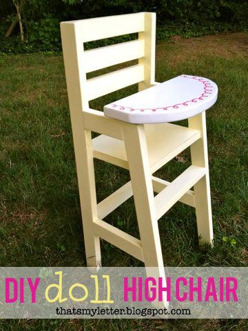 making doll furniture in wood. DIY Doll High Chair Making Furniture In Wood