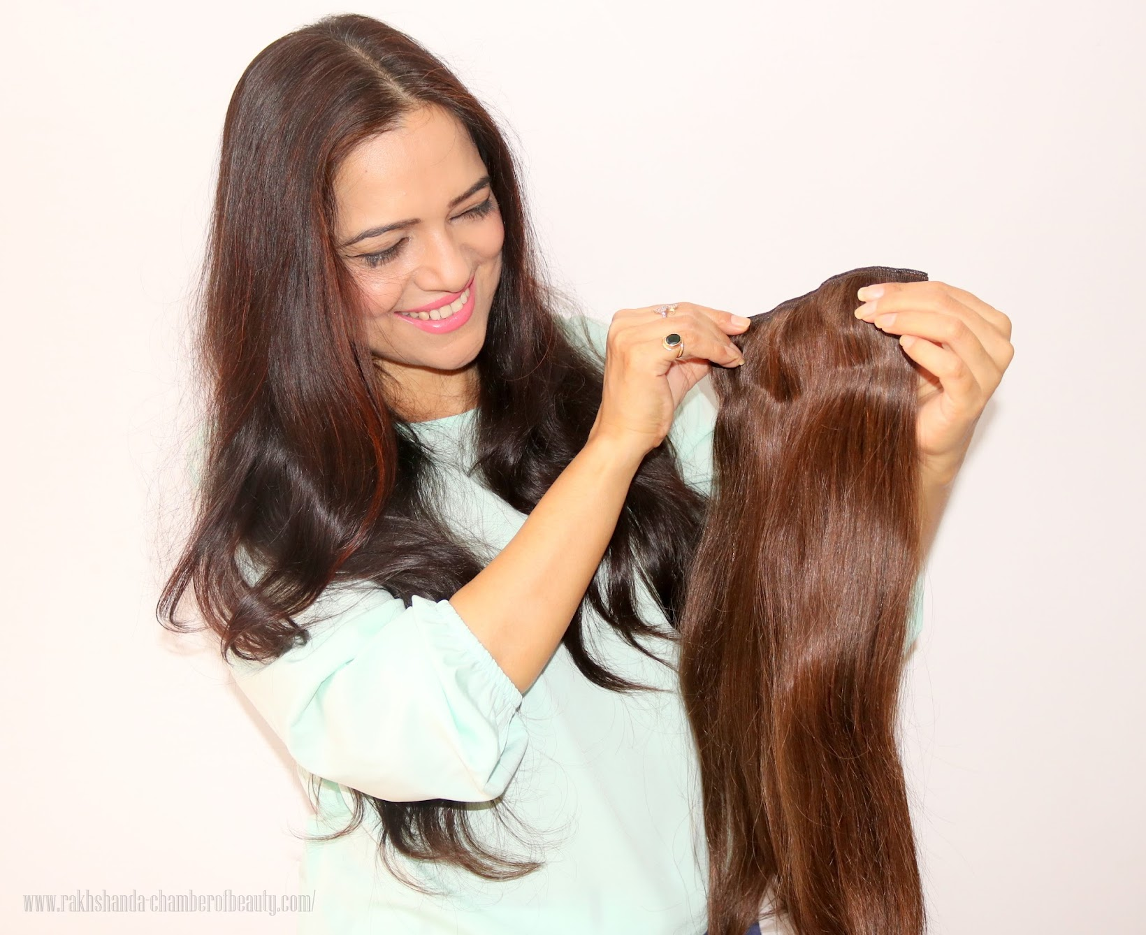 Irresistible Me Clip in Hair Extensions-review + How to apply hair extensions, Royal Remy Clip in Hair Extensions from Irressistible Me, Indian beauty & fashion blogger