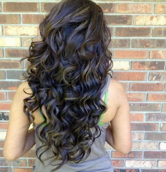 Curles In Long Hair