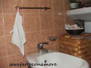 Sarafattoconamore la nostra casa a misura di bimbo bagno - Porta asciugamano bagno ...