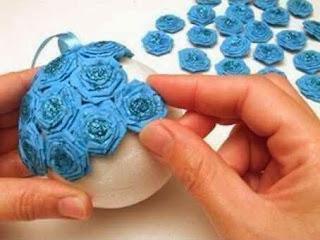Jenis Kerajinan Tangan Dari Kertas, Bola Bunga Kertas Krep 6