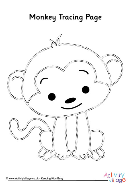 Dynamic image intended for monkey template printable