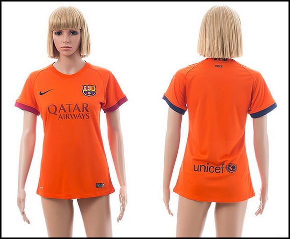 Barcelona 14-15 Away Women Soccer Jersey in thailand quality Orange