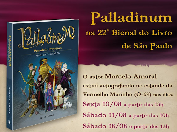 Palladinum do Marcelo Amaral na 22ª Bienal Internacional do Livro de São Paulo