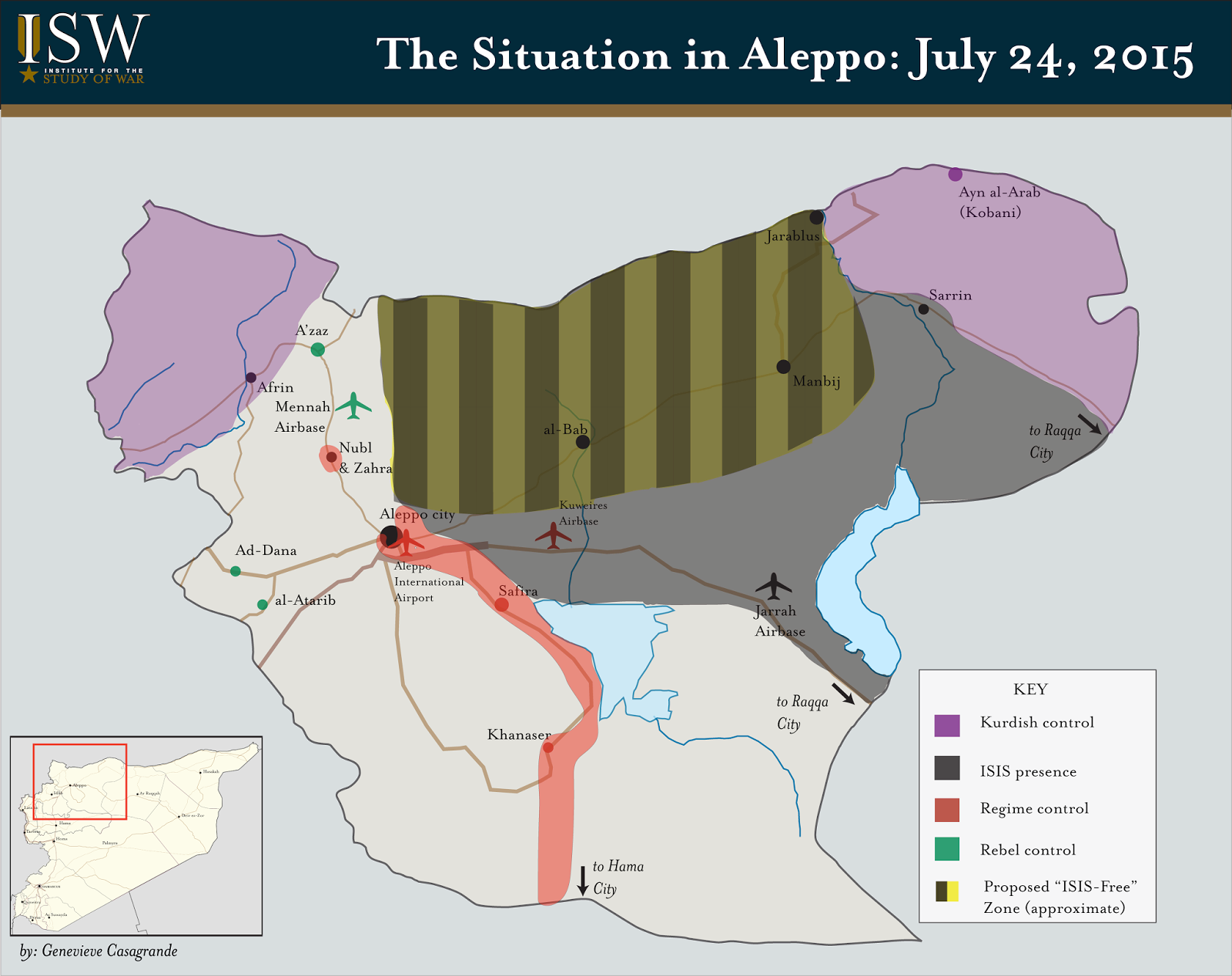 ISIS Is Advancing Into The US And Turkey Safe Zone In Syria - Map of us safe zones
