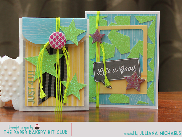Paper Baker June Scrapbook Kit Gift Card and Gift Card Holder by Juliana Michaels