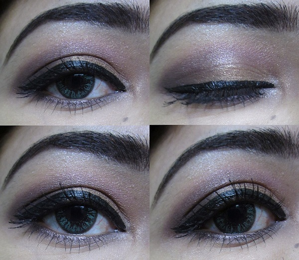 Purple Gold Eye makeup Tutorial