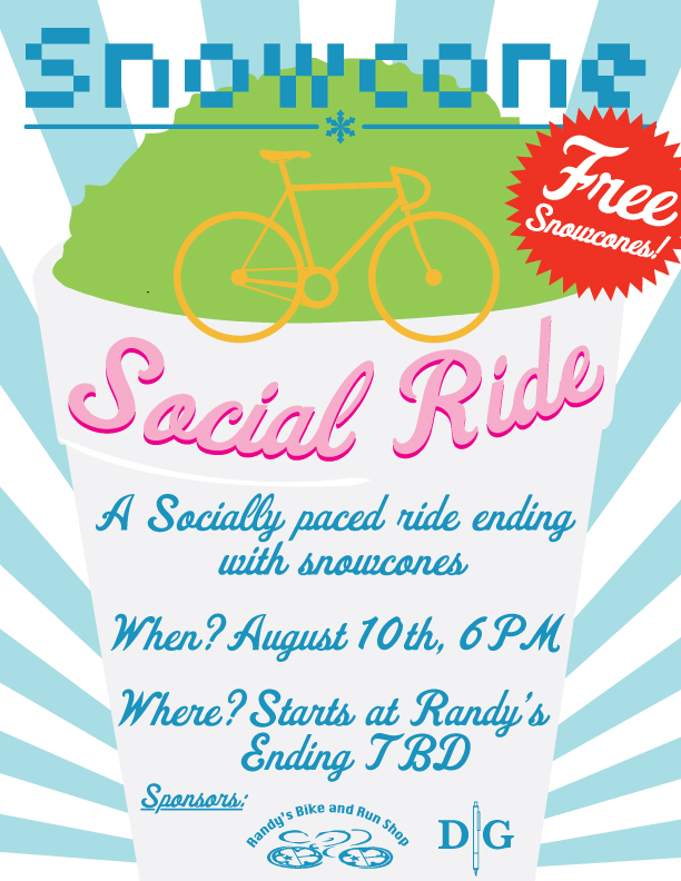 Pedal Pushers Snow Cone Social Ride
