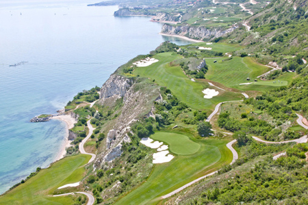 View of the Thracian golf course along Black Sea coast