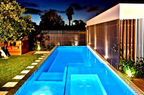 Unusual swimming pool paint color with beautiful design for Unique swimming pool designs