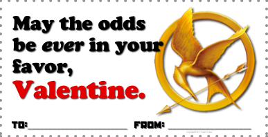 Hunger Games Valentines by Tracee Orman www.hungergameslessons.com