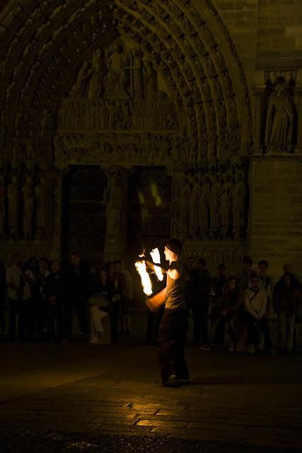 Notre Dame Fire Dancers