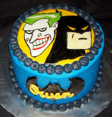 Batman and Joker Birthday Cakes