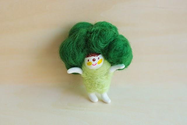 brocoli fieltro lana manualidades xiao zeng