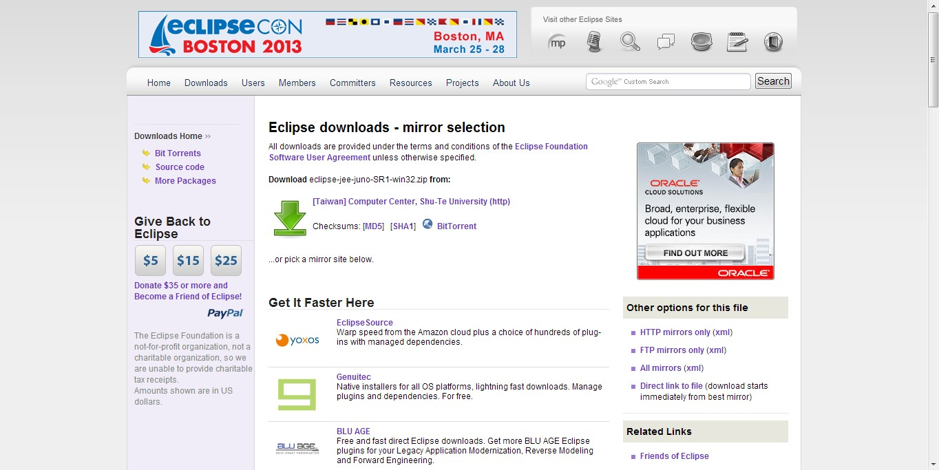 how to download juno ecplise java on windows