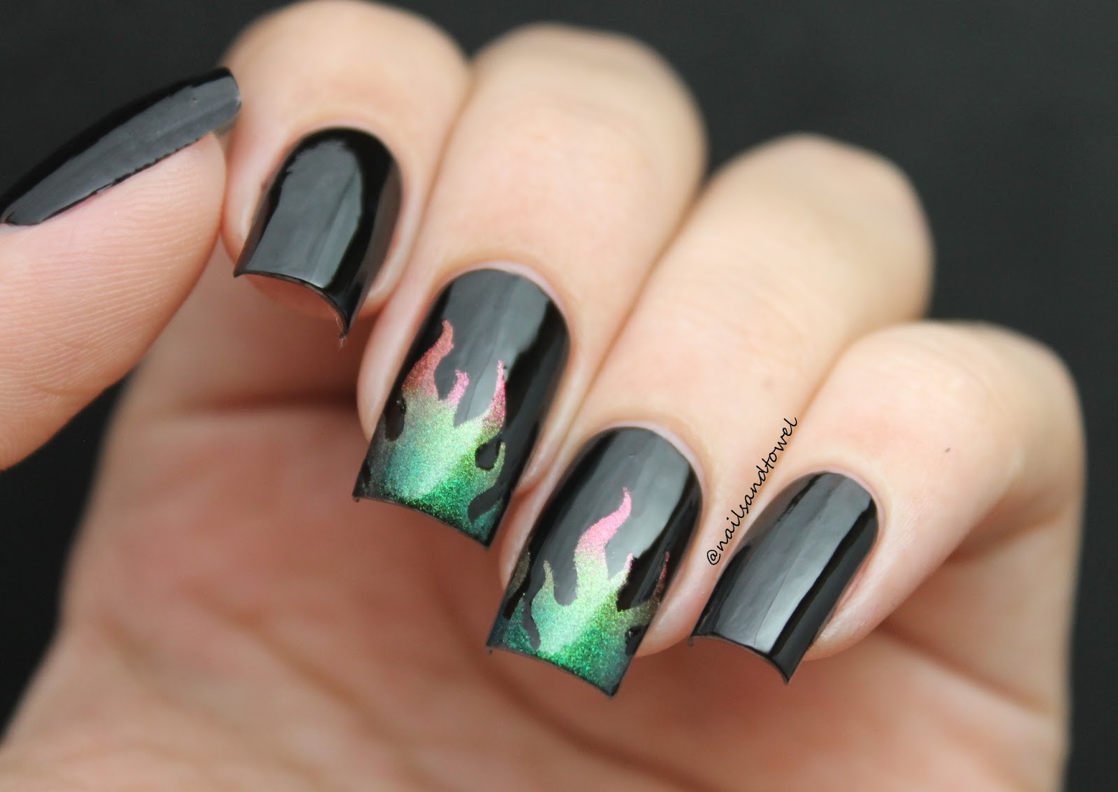 My Nail Art Journal: Watch Out!! Nails On Fire...
