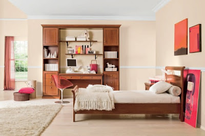 decoración color rosa habitación niña