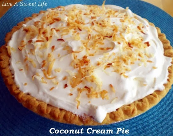 Coconut Cream Pie @ Live A Sweet Life