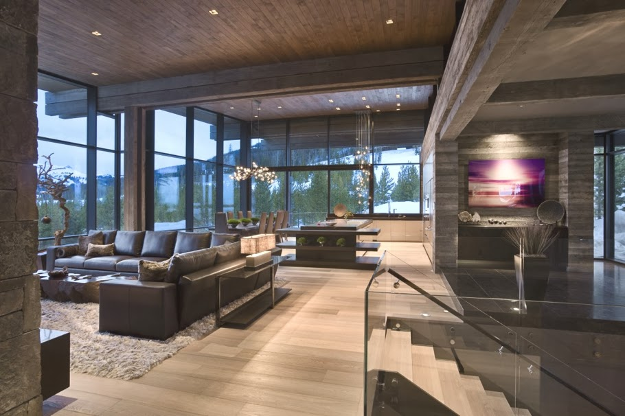 A Luxurious Holiday Home To Express Modern Mountain Luxury With Just The  Right Amount Of Vegas U0027blingu0027.