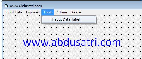 cara hapus data tabel otomatis di VB