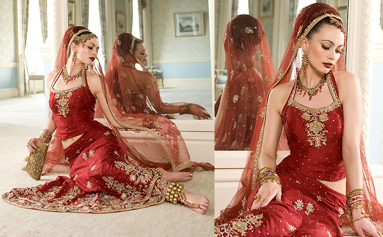 Indian bridal fashion ranges from bridal lehenga bridal saris and