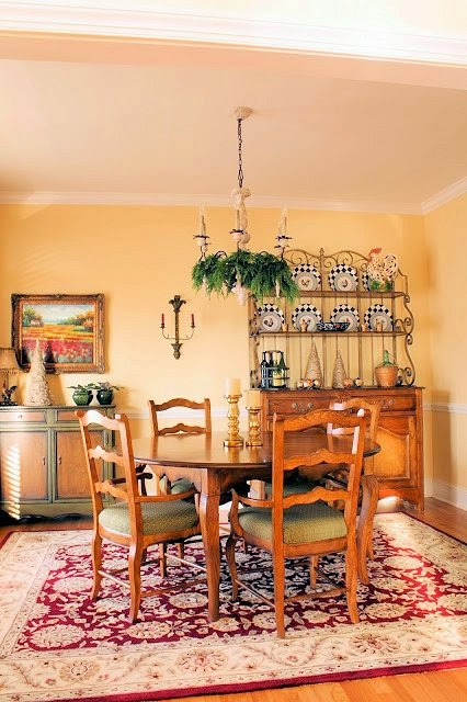 French Country Dining Room-The Comforts of Home-Christmas Edition- How I Found my Style Sundays- From My Front Porch To Yours