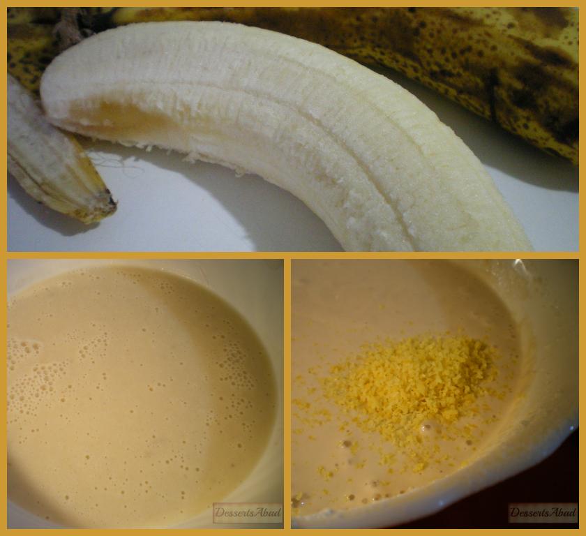 Frisuelos de plátano y leche de soja