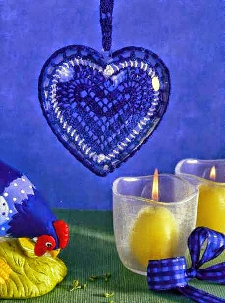 Romántico corazón al crochet para decorar - con patrón