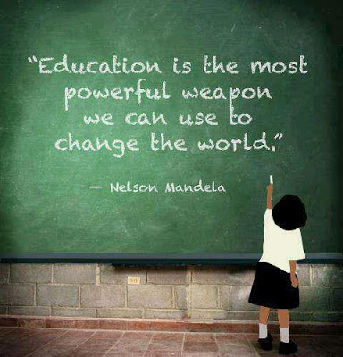 Education is the most powerful weapon which you can use to change the world.  Nelson Mandela   Read more at http://www.brainyquote.com/quotes/quotes/n/nelsonmand157855.html#dsRYEwOwF8Klbb4A.99