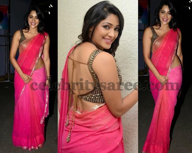 Kesha Khambati Pink Saree