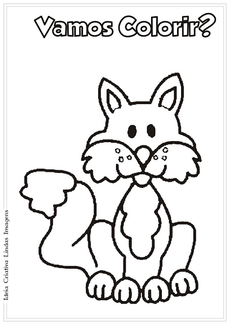 Desenho de Raposa para Colorir