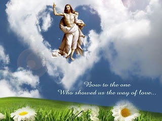 Jesus ascension to heaven nature wallpaper