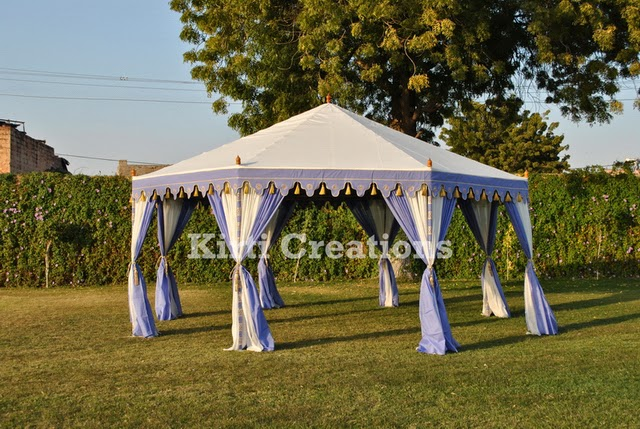 Exclusive Wedding Tents -In orange and light sky blue color we design this wedding tent in hut shape which have cone shape roof and its curtains and folded ... & Raj Tent-Tent Manufacturers: Wedding Tents And Its Various Types