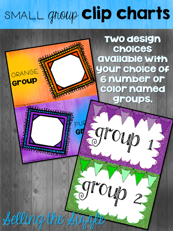 https://www.teacherspayteachers.com/Product/Small-Group-Clip-Charts-907229