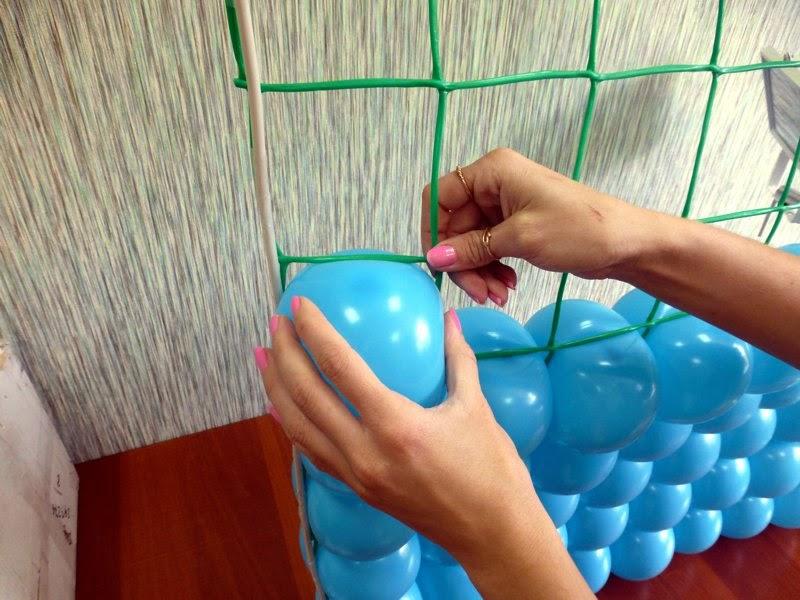 Радуга из шаров своими руками пошаговая 42