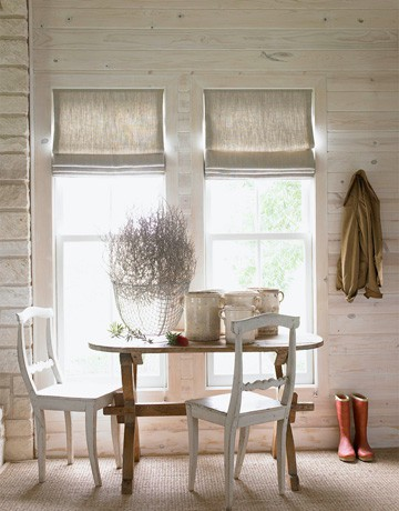 Diy burlap kitchen curtains - Urban Farmgirl Made To Order Roman Shades