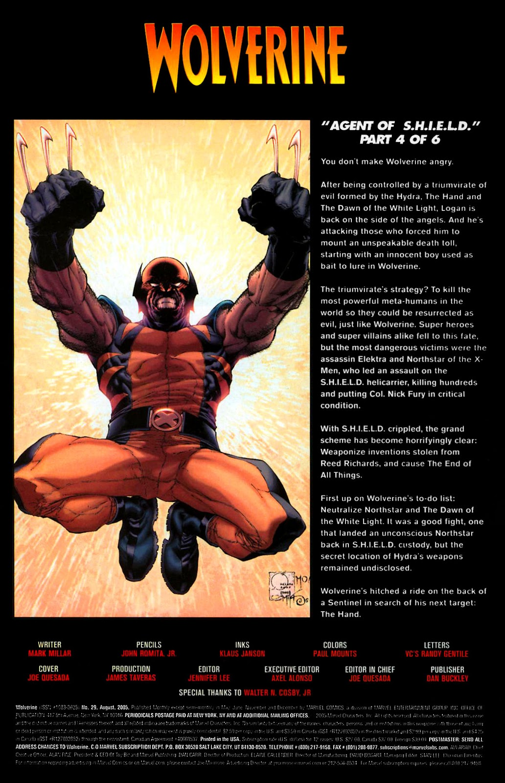 Read online Wolverine (2003) comic -  Issue #29 - 2