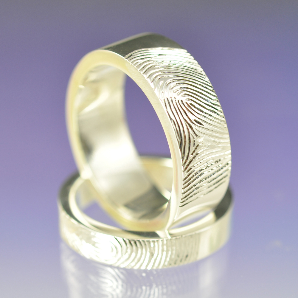 fingerprint rings fingerprint wedding band Fingerprint Rings