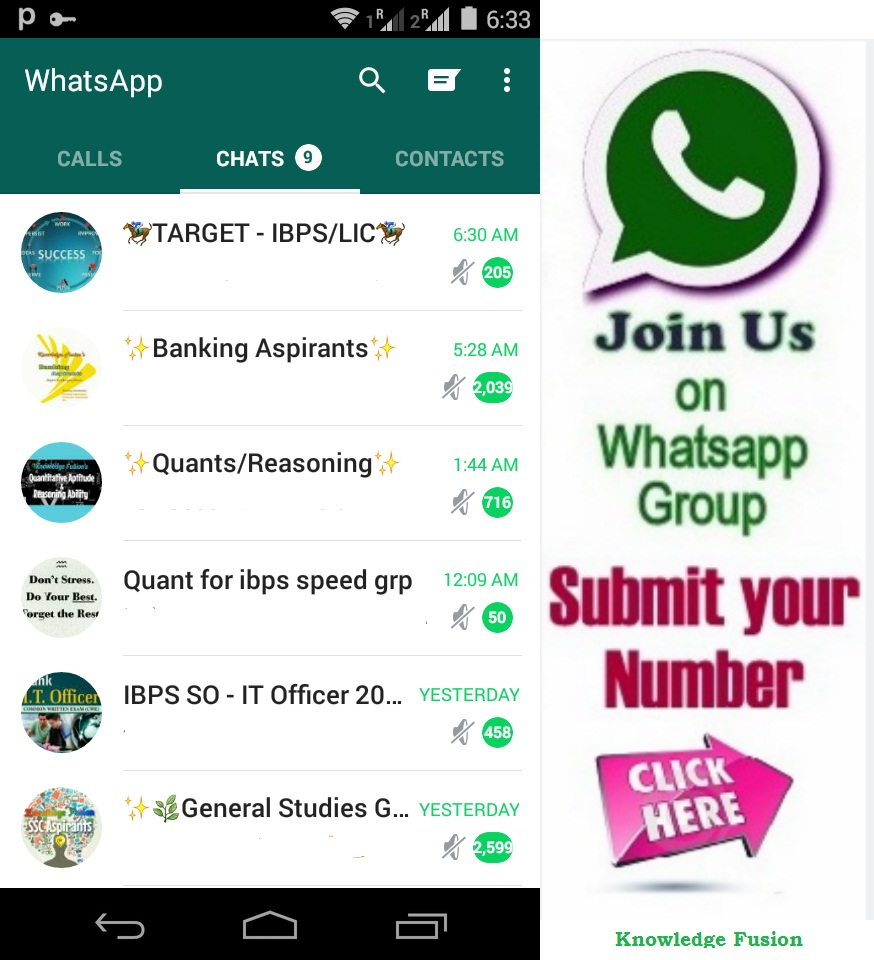 Knowledge Fusion on Whatsapp