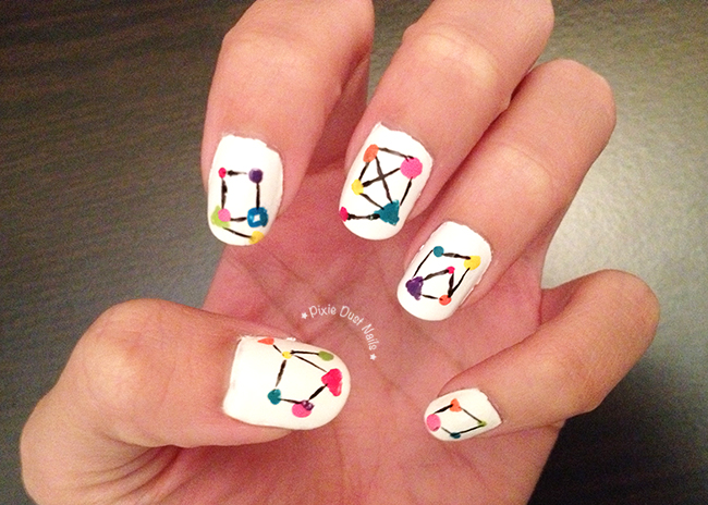 Geometric Nail Art inspired by Selfie's opening credits