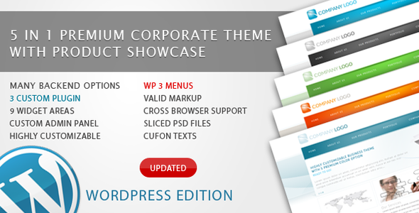 RT-Theme 6 - 5 in 1 Business WordPress Theme Free Download by ThemeForest.