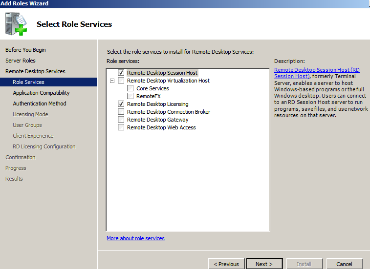 installing windows server networking