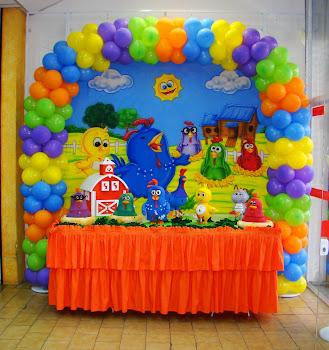 Arco em Balões Galinha Pintadinha!!!!