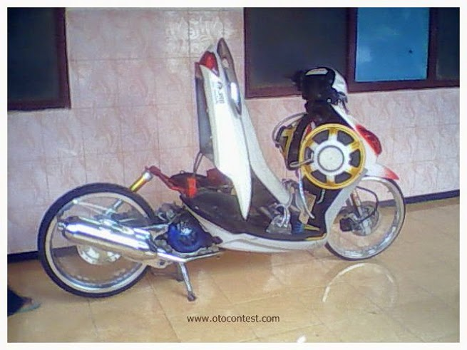 modifikasi mio chrome terkeren