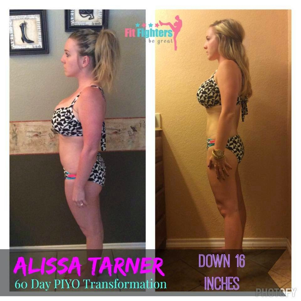 Piyo Transformation, before and after, weight loss transformation