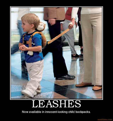 leashes: now available in innocent-looking child backpacks