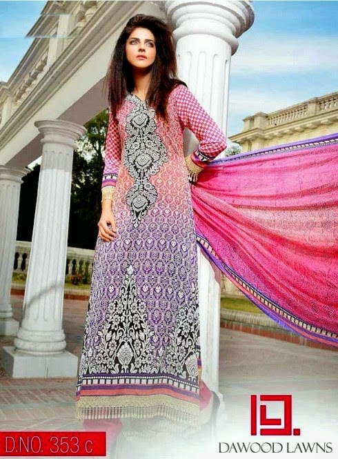Lawn Dresses with Silk Dupatta