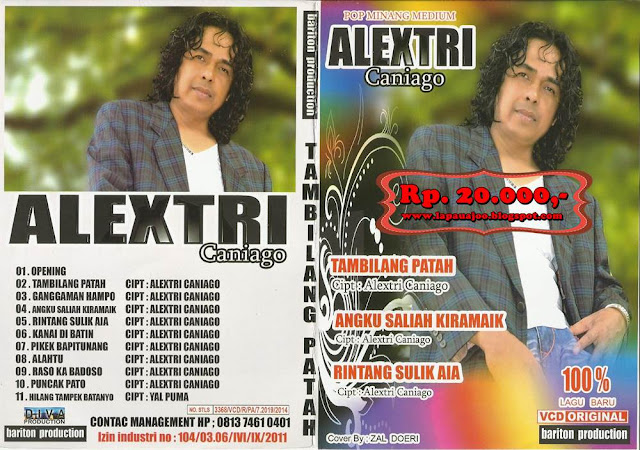 Alextri Caniago - Tambilang Patah (Album Pop Minang Medium)